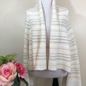 Anthropologie Moth Belle Sleeve Crop Sweater